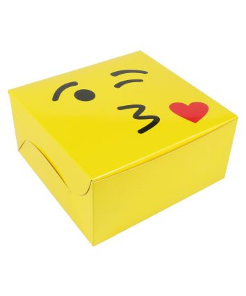 CAKE BOX FOR 0.5 KG - YELLOW - 8X8X4 INCH - PACK OF 10