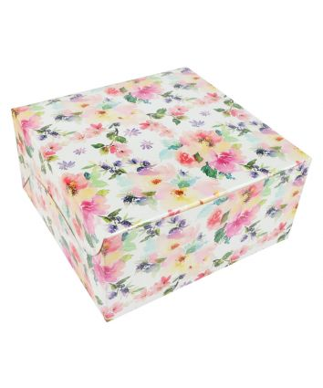 CAKE BOX FOR 0.5 KG - FLORAL - 8X8X4 INCH - PACK OF 10