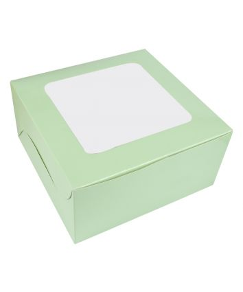 CAKE BOX FOR 1kg - MINT - 10X10X5 INCH - PACK OF 10