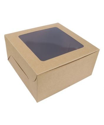 CAKE BOX FOR 1 KG- BROWN - 10X10X5 INCH- PACK OF 10