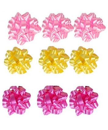Self Adhesive Flower Ribbon for Wrapping and Decoration Set of 9 Pcs in a Box