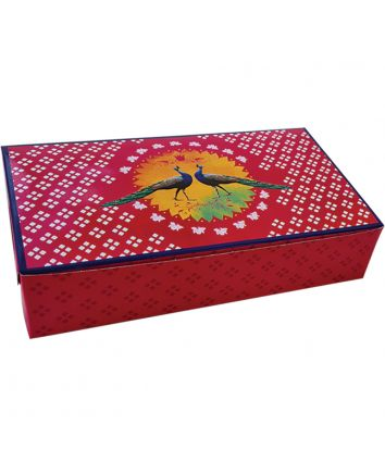 BROWNIE BOX - PEACOCK - 9X5X2 INCH - PACK OF 10