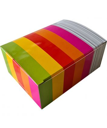 BROWNIE BOX - MULTICOLOUR - pack of 10