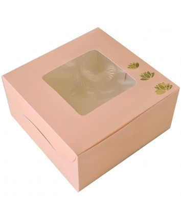 CAKE BOX FOR 1KG - PEACH GOLD - 10X10X5 INCH - PACK OF 10