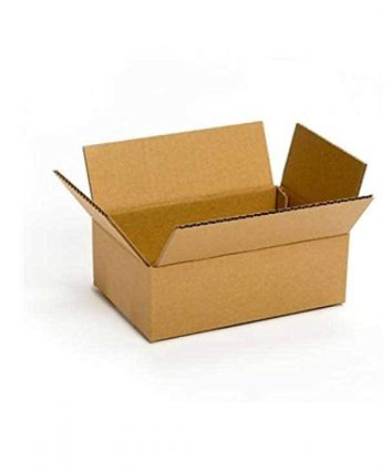 CORRUGATED BROWN BOX FOR PACKAGING - 9X7X3.5 INCHES - PACK OF 50