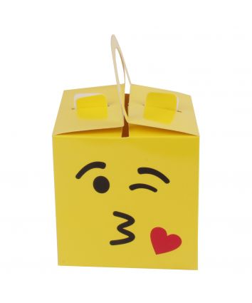 CUPCAKE BOX FOR 1 - YELLOW - HANDLE - pack of 10