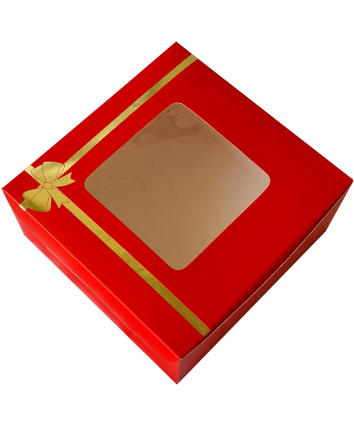 CAKE BOX FOR 0.5 KG -RED - 8X8X4 INCH - PACK OF 10