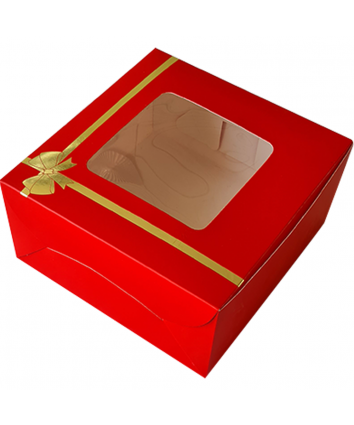 CAKE BOX FOR 1 KG -RED -10x10x5 INCH - PACK OF 10